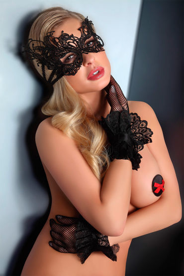 Livia Corsetti Mask Black Model 1 Элегантная маска