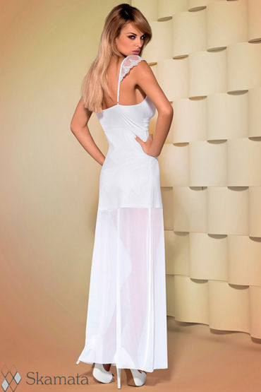 Obsessive Feelia, белый Платье с глубоким декольте и трусики