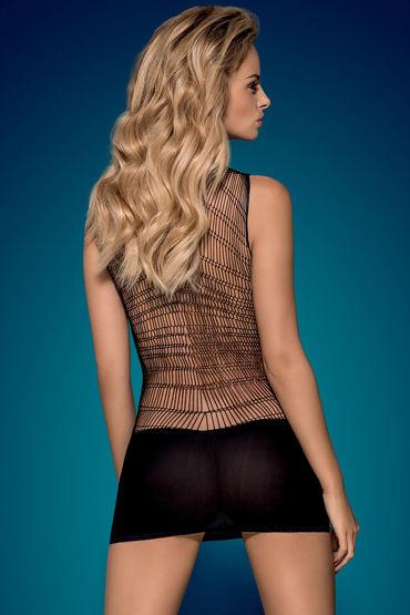 Obsessive Платье, черный Платье с узором паутина