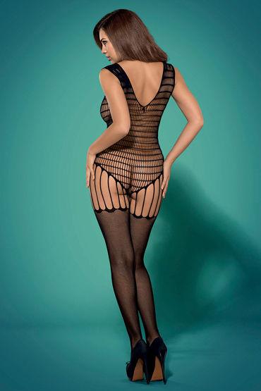 Obsessive Боди-комбинезон, черный Раскованный сетчатый наряд