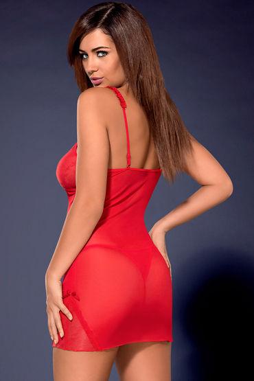 Obsessive Romansia, красный Сорочка с ажурными вставками и трусики