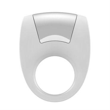 Ovo B8 Эрекционное кольцо, белое С виброэлементом, стимулирующее клитор toyfa кольцо прозрачное гелевое эрекционное