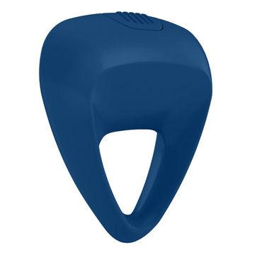 Ovo B9 Эрекционное кольцо, синее С виброэлементом, трехгранной формы ovo w1 вибропуля фиолетовый водонепроницаемая