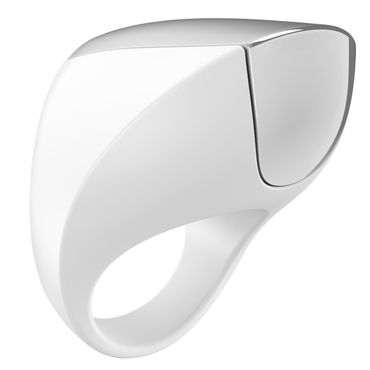 Ovo A1 Эрекционное кольцо, белое С перезаряжаемым аккумулятором ovo r1 виброяйцо белое на дистанционном управлении