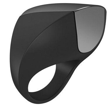 Ovo A1 Эрекционное кольцо, черное С перезаряжаемым аккумулятором ovo w2 вибропуля серебристо черный с подсветкой 5 программ вибрации