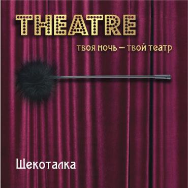 ToyFa Theatre Щекоталка, черная С гибкой ручкой плеть кожаная toyfa theatre черная