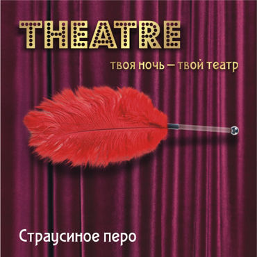 ToyFa Theatre Страусиное перо, красное С рукояткой allure lingerie wet look side slashed leggings леггинсы с прорезями