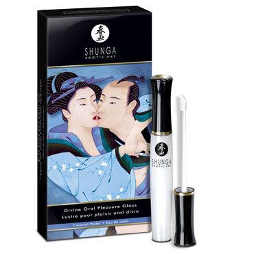 Shunga Divine Oral Pleasure, 10 мл Средство 3в1 с ароматом кокоса shunga carnal pleasures подарочный набор плотские удовольствия из 5 предметов