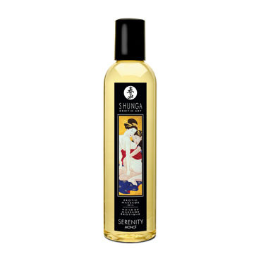 Shunga Sereniti Monoi, 250мл Массажное масло, моной масло для массажа shunga excitation orange 250 мл
