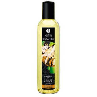 Shunga Organica, 250 мл Массажное масло, миндаль масло интимное массажное shunga сливочный латте 100 мл