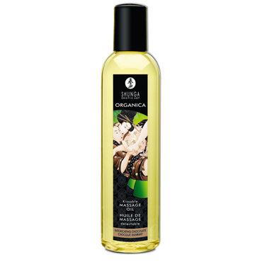 Shunga Organica, 250 мл Массажное масло, пьянящий шоколад shunga blazing cherry 100 мл массажное масло пылающая вишня