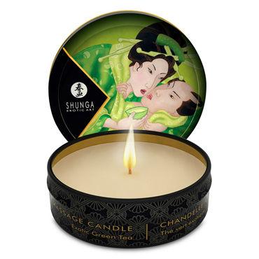 Shunga Massage Candle, 30м Массажная свеча, зеленый чай shunga massage candle 170мл массажная свеча клубника и шампанское