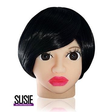 Голова-мастурбатор Susie Компактного размера system jo premium lubricant 30 мл нейтральный лубрикант на силиконовой основе