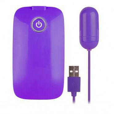 NMC Potent X USB To Orgasm, фиолетовое Виброяйцо с USB-проводом nmc xxx to go nanette
