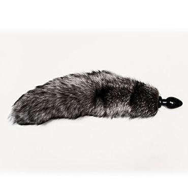 Wild Lust анальная пробка 4 см, серый С лисьим хвостом ganzo touch pro