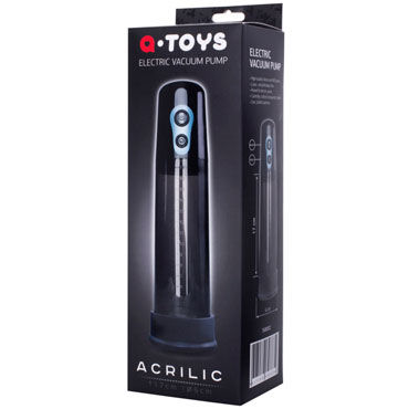 Toyfa A-toys Electric Vacuum Pump, черная Вакуумная помпа с электромотором система colt advanced shower shot для гигиенического душа