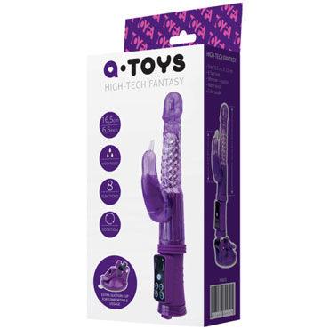 Toyfa A-toys High-Tech Fantasy, фиолетовый Ротатор с рельефным спиральным узором toyfa a toys multi speed vibrator фиолетовый вибратор с клиторальным стимулятором