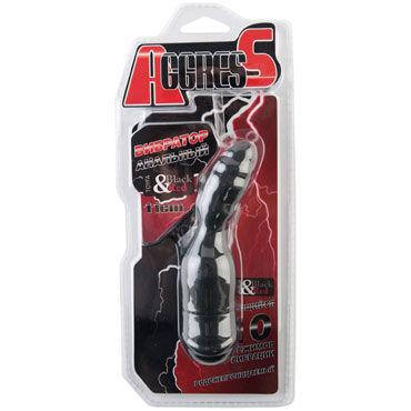Toyfa Black&Red Вибратор анальный, черный Небольшого размера вибромассажер toyfa black