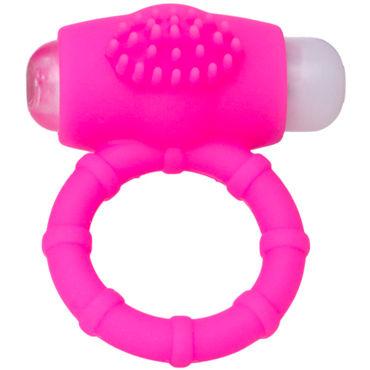 ToyFa A-toys Powerful Cock Ring, розовое Виброкольцо с мягкими шипиками sqweel go pink карманный клиторальный стимулятор