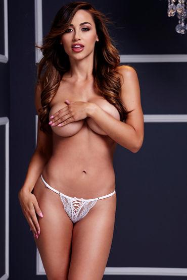 Baci Трусики стринги, белые С сексуальной шнуровкой vnew level 3 вагинальные шарики для уже тренированных мышц