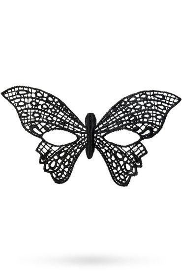 Toyfa Theatre маска Бабочка, черная Маска ажурная из нитей toyfa theatre маска асимметрия черная маска ажурная из нитей