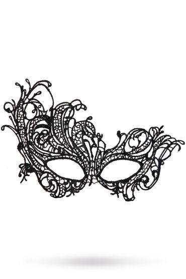 Toyfa Theatre маска Страусиное перо, черная Маска ажурная из нитей toyfa theatre флоггер из натуральной кожи черный с утолщениями на концах