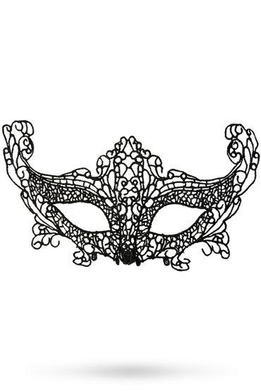 Toyfa Theatre маска Лисичка, черная Маска ажурная из нитей toyfa theatre маска капюшон полностью закрывает лицо