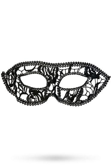 Toyfa Theatre маска Маскарад, черная Маска ажурная из нитей toyfa theatre флоггер из натуральной кожи черный с утолщениями на концах