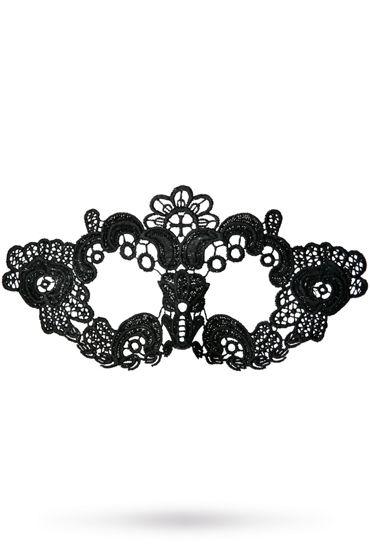 Toyfa Theatre маска Цветы, черная Маска ажурная из нитей toyfa theatre флоггер из натуральной кожи черный с утолщениями на концах