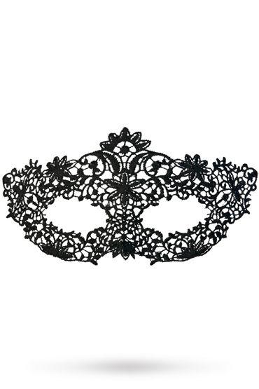 Toyfa Theatre маска Королевская вязь, черная Маска ажурная из нитей toyfa theatre флоггер из натуральной кожи черный с утолщениями на концах