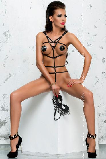 Me Seduce Lola, черное Боди из тонких лент you2toys nipple clamps зажимы для сосков