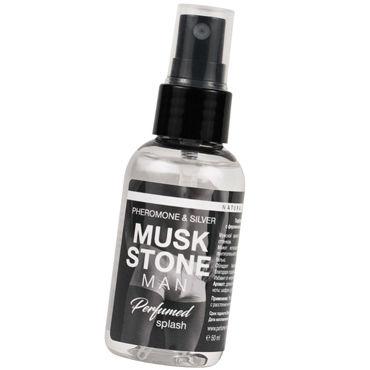 Natural Instinct Musk Stone Man, 50 мл Парфюм для нижнего белья с феромонами и ионами серебра natural instinct body splash pure crystal woman 100 мл женский парфюм для тела с феромонами и афродизиаками