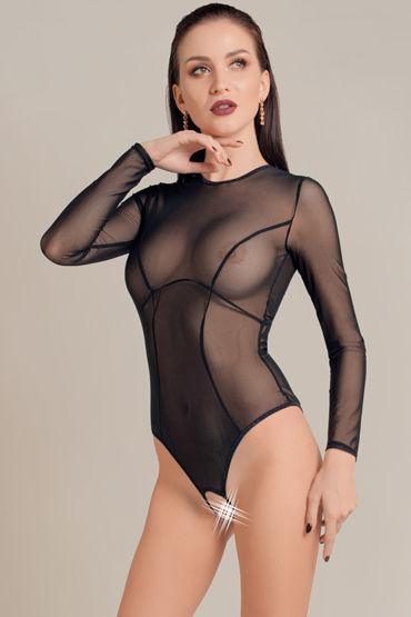 Waname Apparel Grace, черное Эротическое боди с рукавами gfm эротическое белье новейшее прозрачное ночное платье кружевное летнего типа