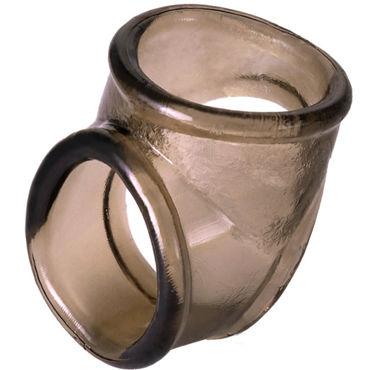 ToyFa Xlover Cock Ring, черное Кольцо с отверстием для мошонки ovo k2 бело розовый вибратор с клиторальным стимулятором
