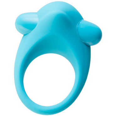 Toyfa A-toys Cock Ring, голубое Эрекционное кольцо с вибрацией и бугорком для клитора soft line ночная сорочка и стринги черные прозрачная лиф отделан кружевами