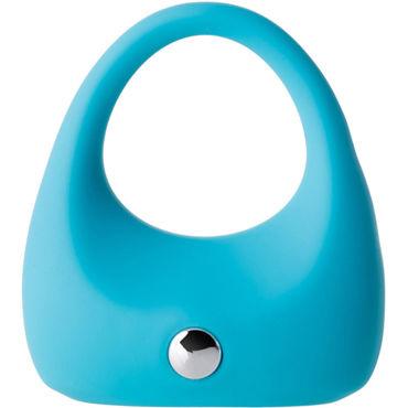 Toyfa A-toys Cock Ring, голубое Эрекционное кольцо с вибрацией blueline t style cock ring эрекционное т образное кольцо
