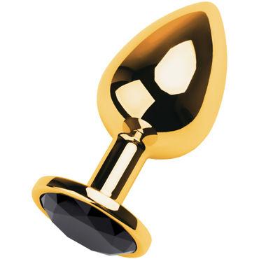 Toyfa Metal Большая анальная пробка, золотая С кристаллом цвета турмалин анальная пробка toyfa metal small silver с красной вставкой в коробочке