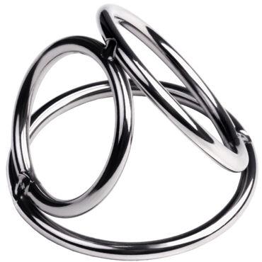 Toyfa Metal Бондаж для пениса S, серебристый Из металлических колец увеличитель пениса developee