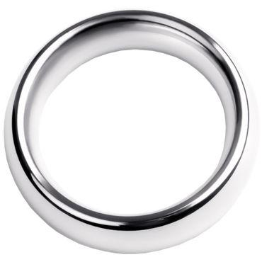 Toyfa Metal Кольцо на пенис 4 см, серебристое Эрекционное из металла дюрекс гель лубрикант play stimulating massage 2в1 200мл
