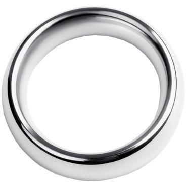 Toyfa Metal Кольцо на пенис 4,5 см, серебристое Эрекционное из металла презервативы okamoto crown 3