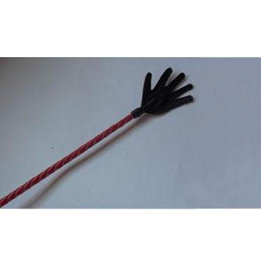 Podium стек 85 см, черно-красный Наконечник-ладошка, лакированный bioclon вибратор реалистичной формы черный с многоскоростной вибрацией