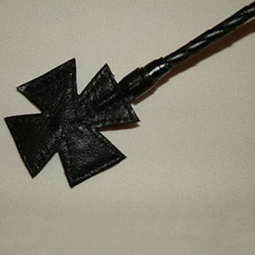 Podium стек, черный С наконечником-крестом, длинный стек классика черный