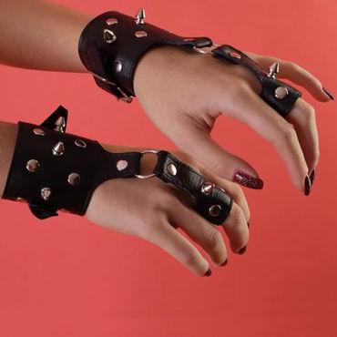 Podium наручники Декорированные шипами анальная цепочка flexible wand серая
