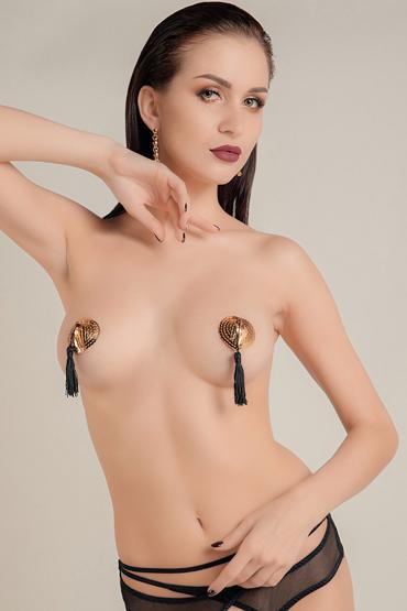Waname Apparel Hearts with Tassels, золотисто-черные Пэстисы в форме сердец с кисточками