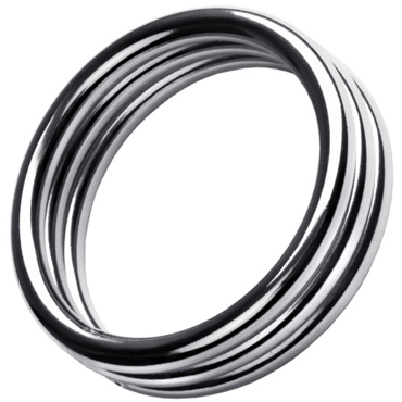 ToyFa Metal Кольцо на пенис L, серебристое Большого размера из металла боди anne l xl