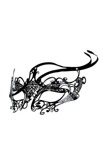 Toyfa Theatre Metal Mask, черная Маска металлическая toyfa theatre щекоталка красная с гибкой ручкой