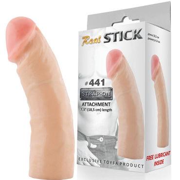 Toyfa RealStick № 441 Реалистичная насадка к трусикам, 18,5 см toyfa realstick 121