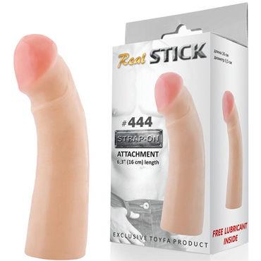 Toyfa RealStick № 444 Реалистичная насадка к трусикам, 16 см toyfa marcus наручники красные с кружевной отделкой