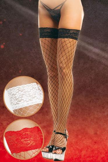 Soft Line чулки, черные В крупную сетку anne d ales erica stockings красные чулки в крупную сетку