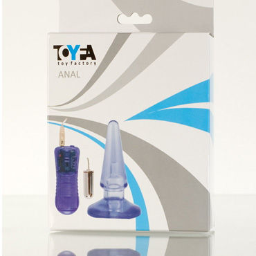 Toyfa вибровтулка Анальная, водонепроницаемая вибровтулка анальная black velvet